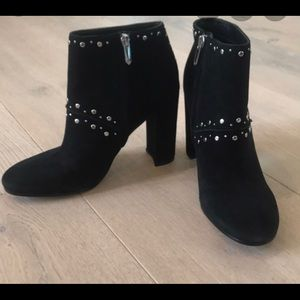 Black Sam Edelman Booties with Silver Accents